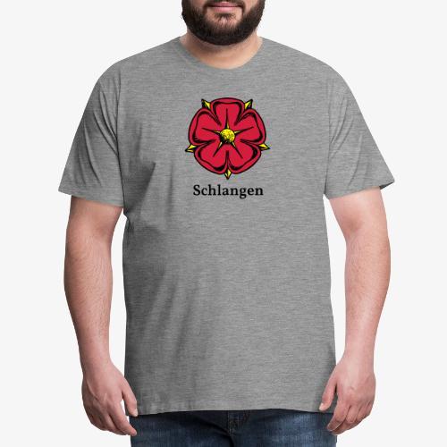 Lippische Rose mit Unterschrift Schlangen - Männer Premium T-Shirt
