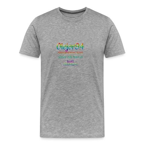 Olejor94 sover snorken - Premium T-skjorte for menn