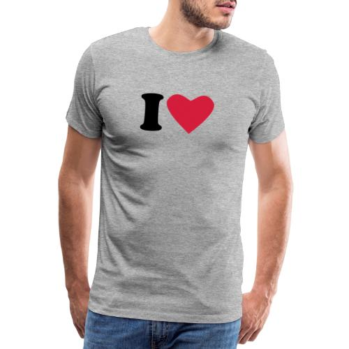 I heart - Premium T-skjorte for menn