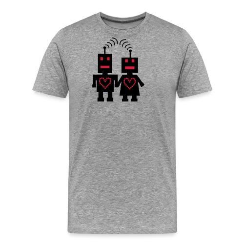 Roboter Liebe - Männer Premium T-Shirt