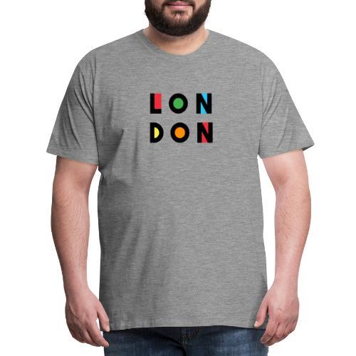 Vintage London Souvenir - Retro Modern Art London - Männer Premium T-Shirt