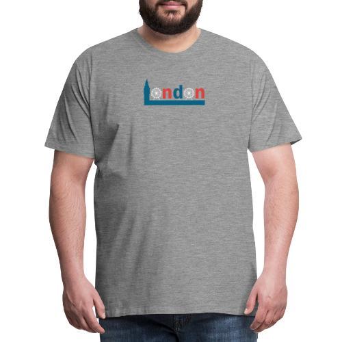 London Souvenir - Text London Sehenswürdigkeiten - Männer Premium T-Shirt