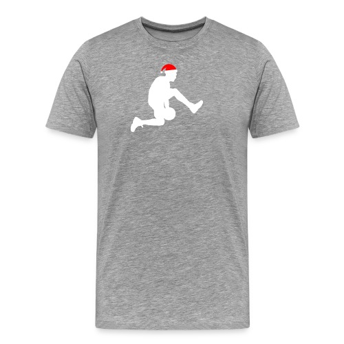 Basketball Silouette Christmas - Men's Premium T-Shirt