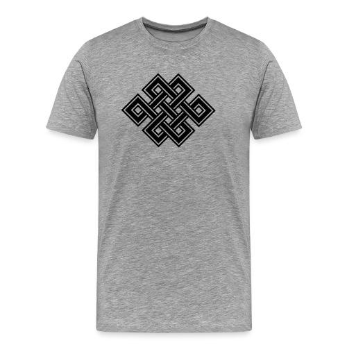 Endlos Knoten, Tibet, Unendlich, Buddhismus, Glück - Männer Premium T-Shirt