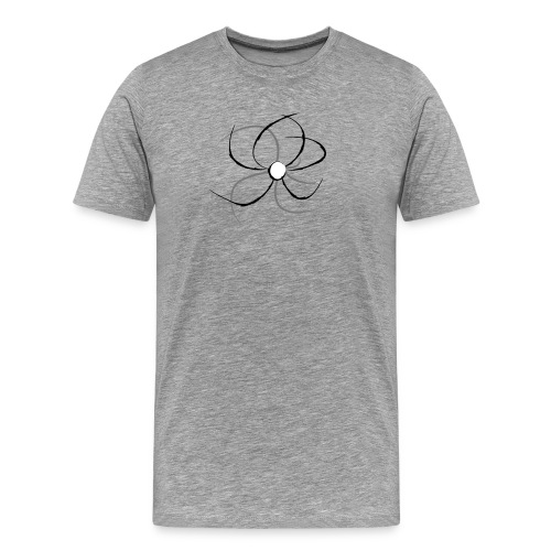 Flower lineart - Camiseta premium hombre