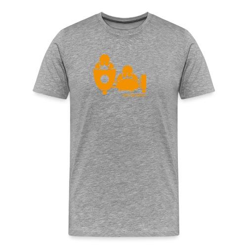 BASSET LOGO orange - T-shirt Premium Homme