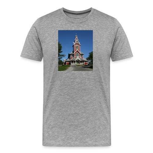 buksnes kirke - Premium T-skjorte for menn