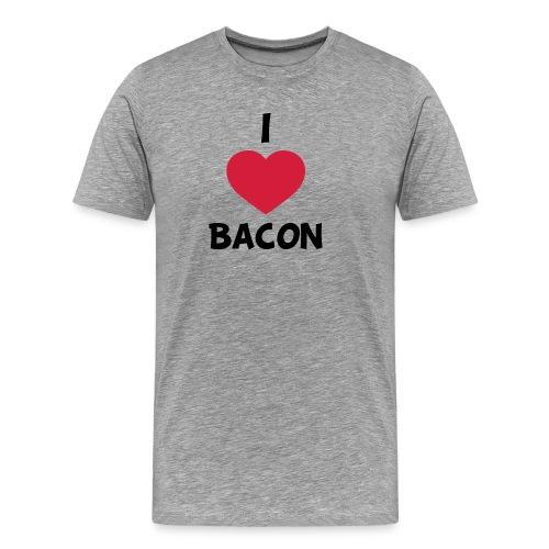 I love bacon - Herre premium T-shirt