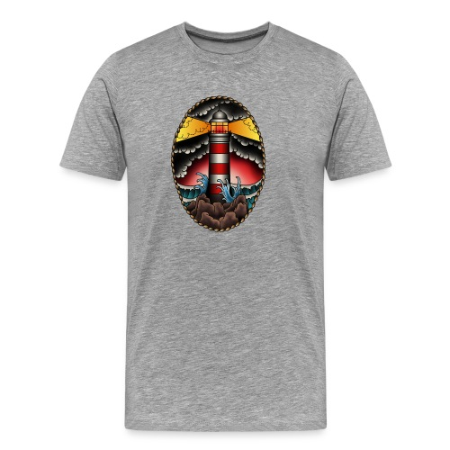 Leuchtturm Tausend Nadeln - Männer Premium T-Shirt