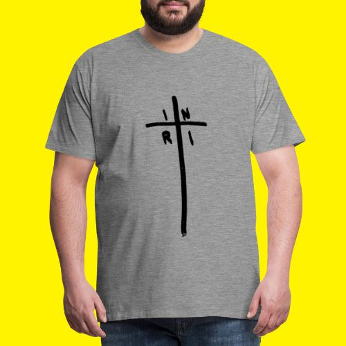 Cross - INRI (Jesus of Nazareth King of Jews) - Men's Premium T-Shirt