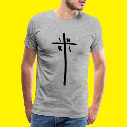 Cross - INRI (Jesus of Nazareth King of Jews) - Men's Premium T-Shirt