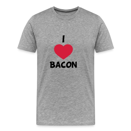 I love bacon - Herre premium T-shirt