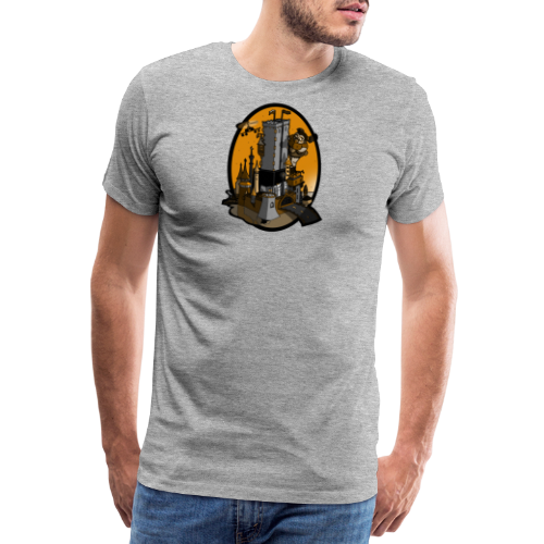 Queen Kong Castle Sonnenuntergang - Männer Premium T-Shirt
