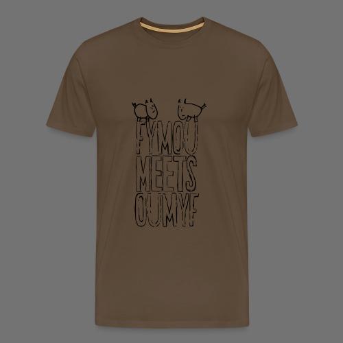 Fymou meets Oumyf (black outline print) - Men's Premium T-Shirt