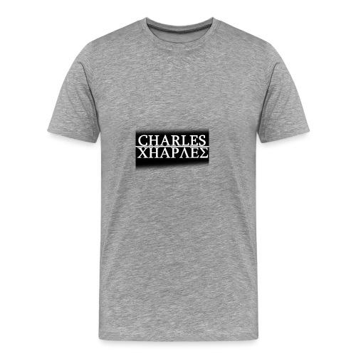 CHARLES CHARLES BLACK AND WHITE - Men's Premium T-Shirt