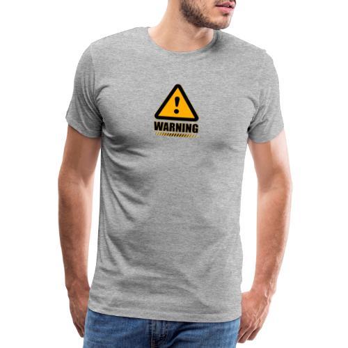 Warning - Camiseta premium hombre