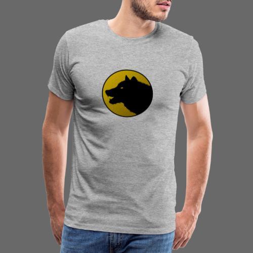 Einsamer Wolf Logo auf Farbe - Männer Premium T-Shirt