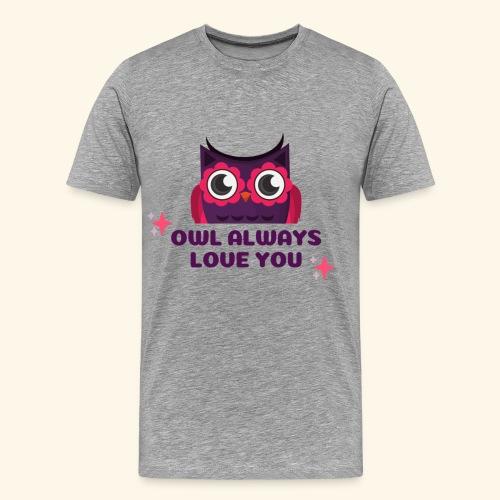 Eulen Design - Männer Premium T-Shirt
