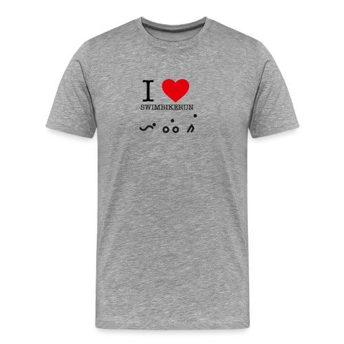 I love swim bike run - Premium T-skjorte for menn