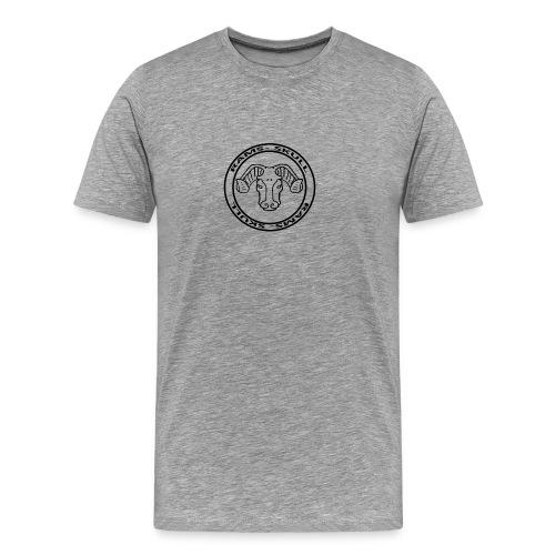 RamSkull Apparell Grey pullover hoodie - Men's Premium T-Shirt