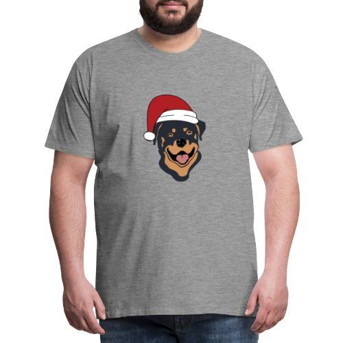 Weihnachtsmann Rottweiler - Männer Premium T-Shirt