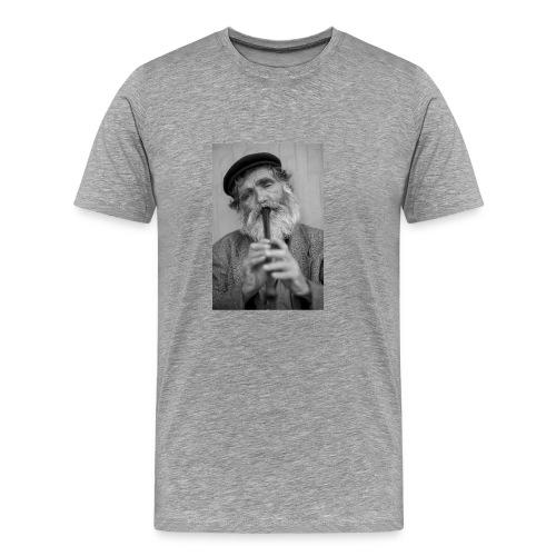 Flötenspieler Logo - Männer Premium T-Shirt