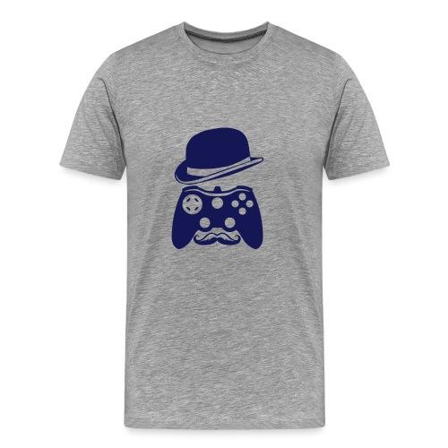 manette chapeau melon moustache personna - T-shirt Premium Homme