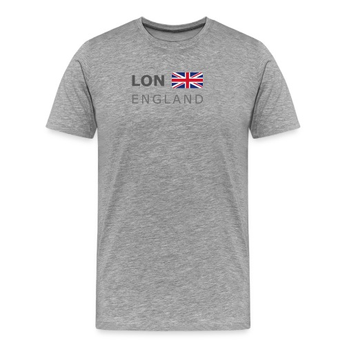 LON ENGLAND BF dark-lettered 400 dpi - Men's Premium T-Shirt