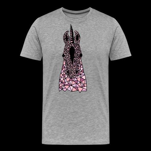 Einhorn Rosa Pferdekopf - Männer Premium T-Shirt