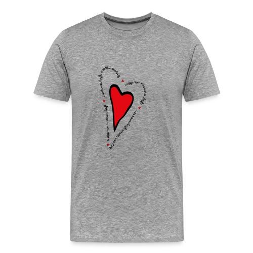 Ullihunde - Herz - Männer Premium T-Shirt