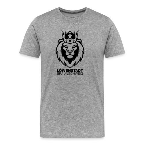 Löwenstadt Design 8 schwarz - Männer Premium T-Shirt
