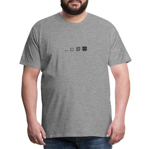 4 Dimensionen - Tesserakt - Männer Premium T-Shirt