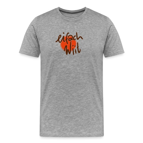 ew logo 2zeilig - Männer Premium T-Shirt