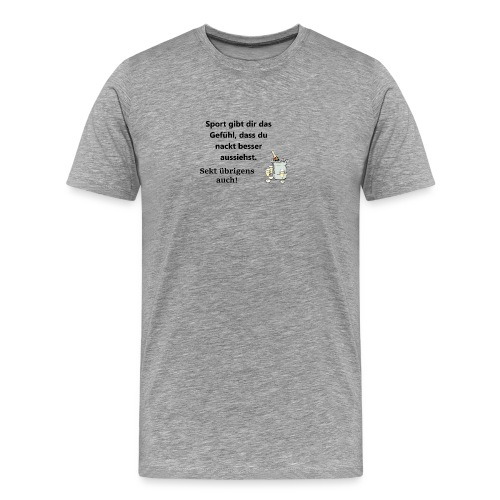 Fun T-Shirt Damen Zicke sekt - Männer Premium T-Shirt