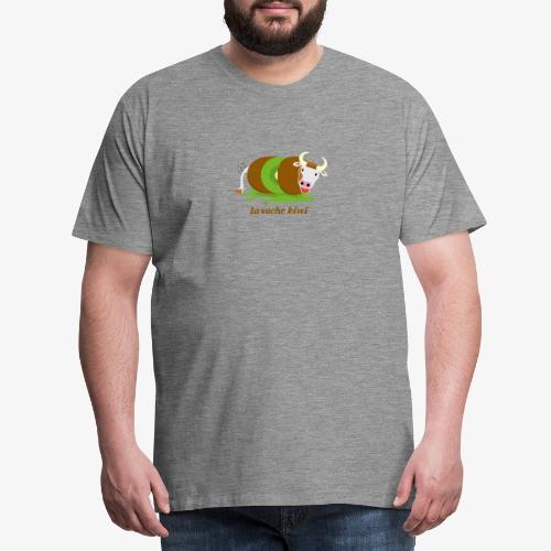 vache kiwi marron - T-shirt Premium Homme