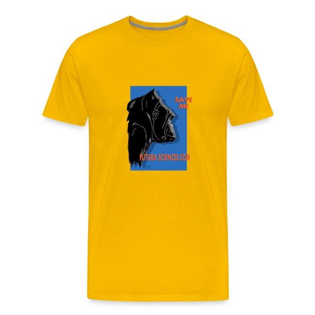 gorille fond bleu