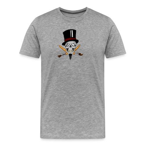 pinsel skull - Männer Premium T-Shirt