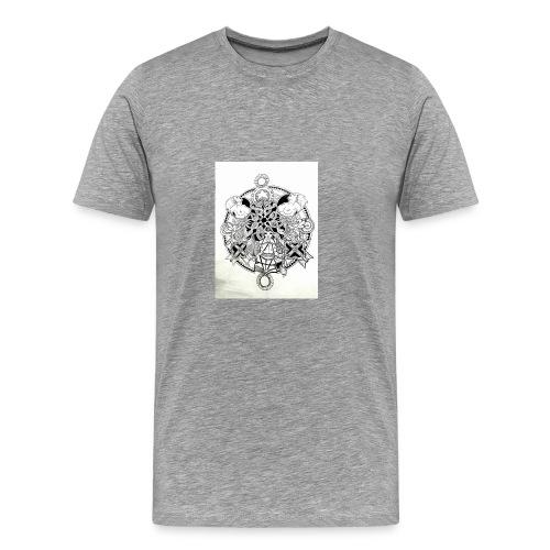 guerriere celtique entrelacs bretagne femme - T-shirt Premium Homme