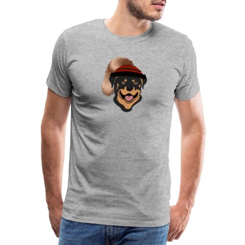 Rottweiler mit Wadelkappe - Männer Premium T-Shirt
