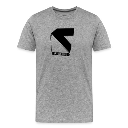 SUBBASS DUBSTEP LABEL LOGO - Männer Premium T-Shirt