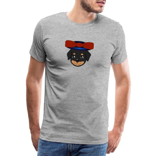 Baby-Rottweiler mit roter Hornkappe - Männer Premium T-Shirt