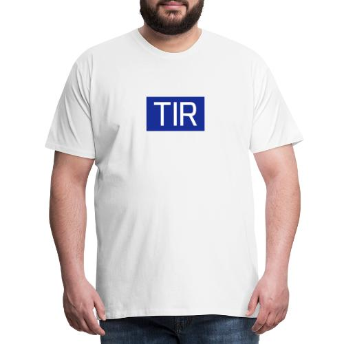 TIR, valkoinen teksti - Miesten premium t-paita