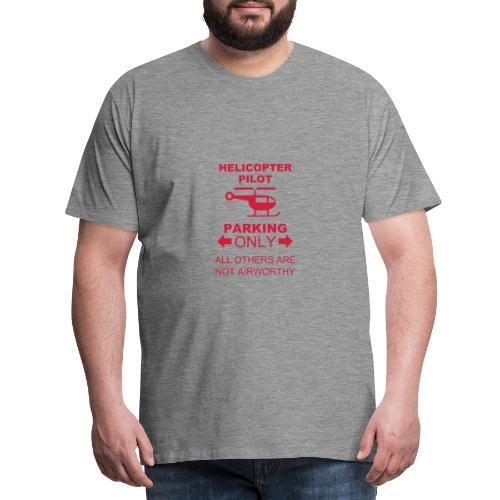 HelipilotParking Sign - Men's Premium T-Shirt