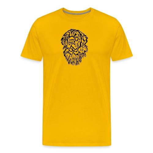 Neufundländer Kopf - Männer Premium T-Shirt