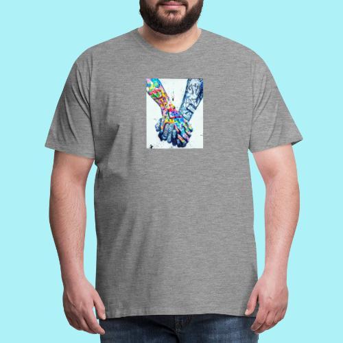 Main dans la main tatoués - T-shirt Premium Homme