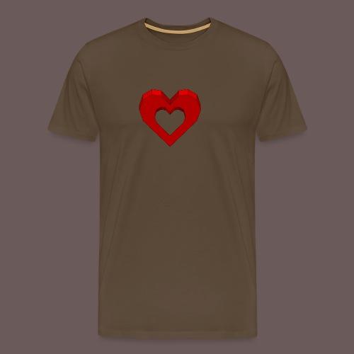 Heart Illusion - Herre premium T-shirt
