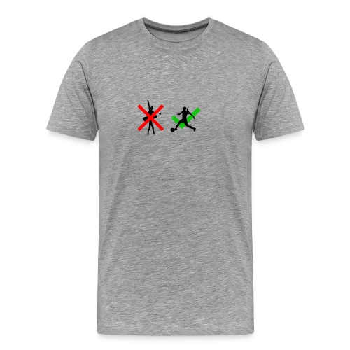 soccer girl - Mannen Premium T-shirt
