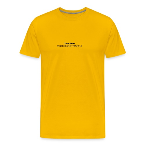 I love anime - Men's Premium T-Shirt