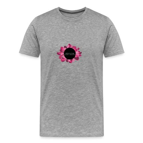 Naisten t-paita punaisella logolla - Miesten premium t-paita