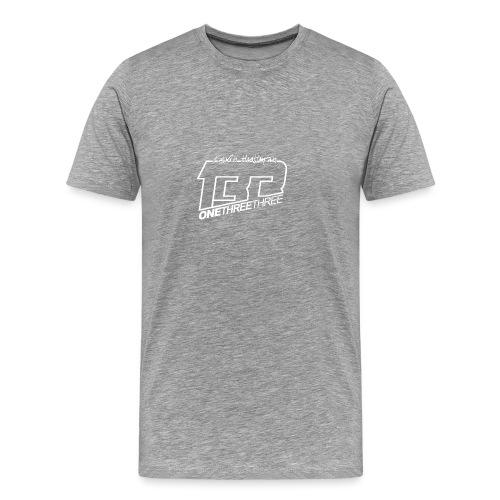 kevin white big - Premium-T-shirt herr